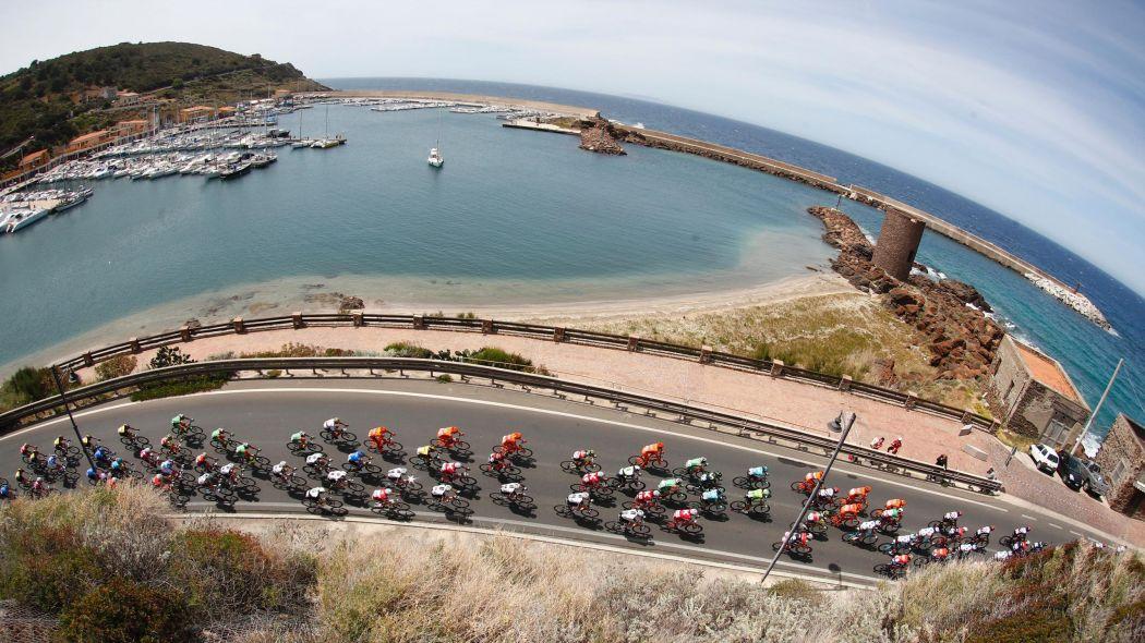 Course cycliste Giro Tour d'Italie à vélo