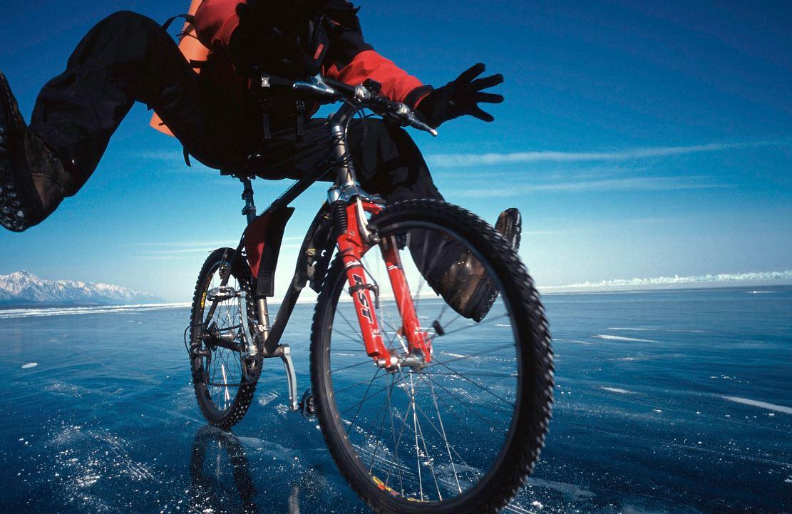 le cyclisme sur la glace