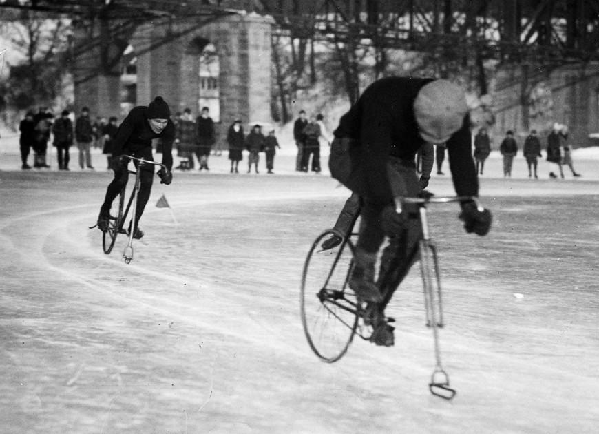 velo sur glace histoire